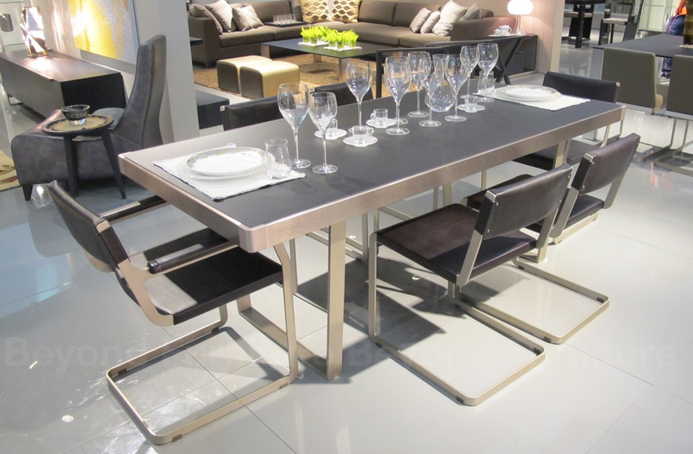 ASTER SLIDE GLASS DINING TABLE 7237