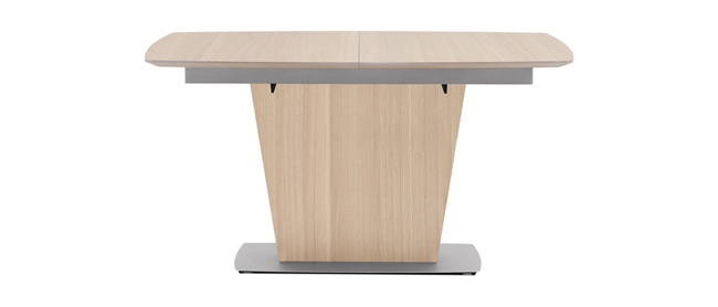 Dining Tables Oak Veneer Extendable Dining Table
