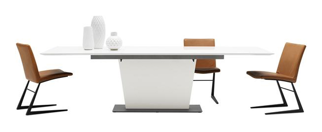 Modern White Extendable Dining Table