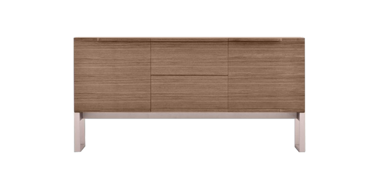 modus-walnut-veneer-rose-gold-short-buffet-furniture-sydney