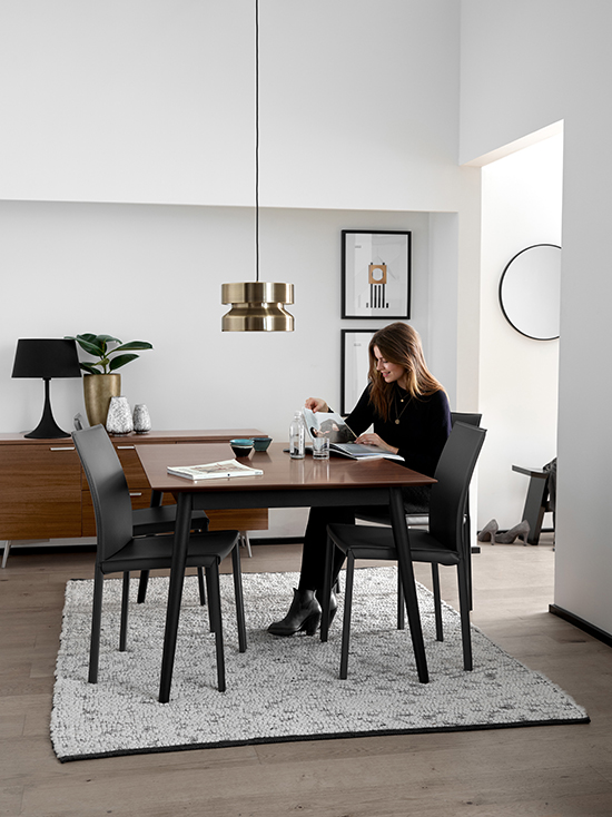 BoConcept dining table Sydney rug
