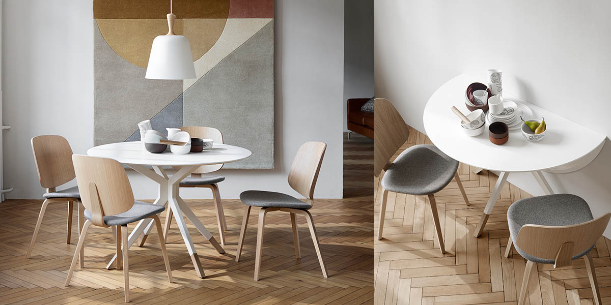 Billund white modern dining table