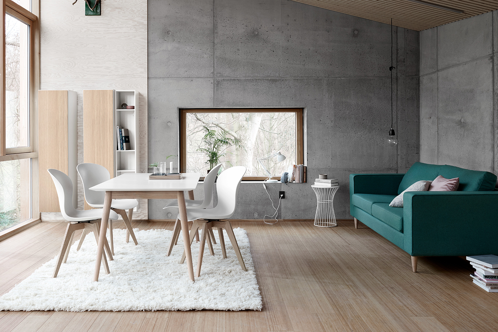 scandi white dining table
