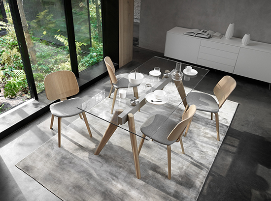 Monza glass dining table