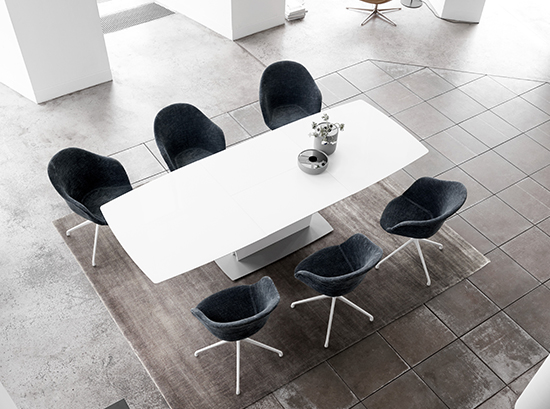 Milano white dining table