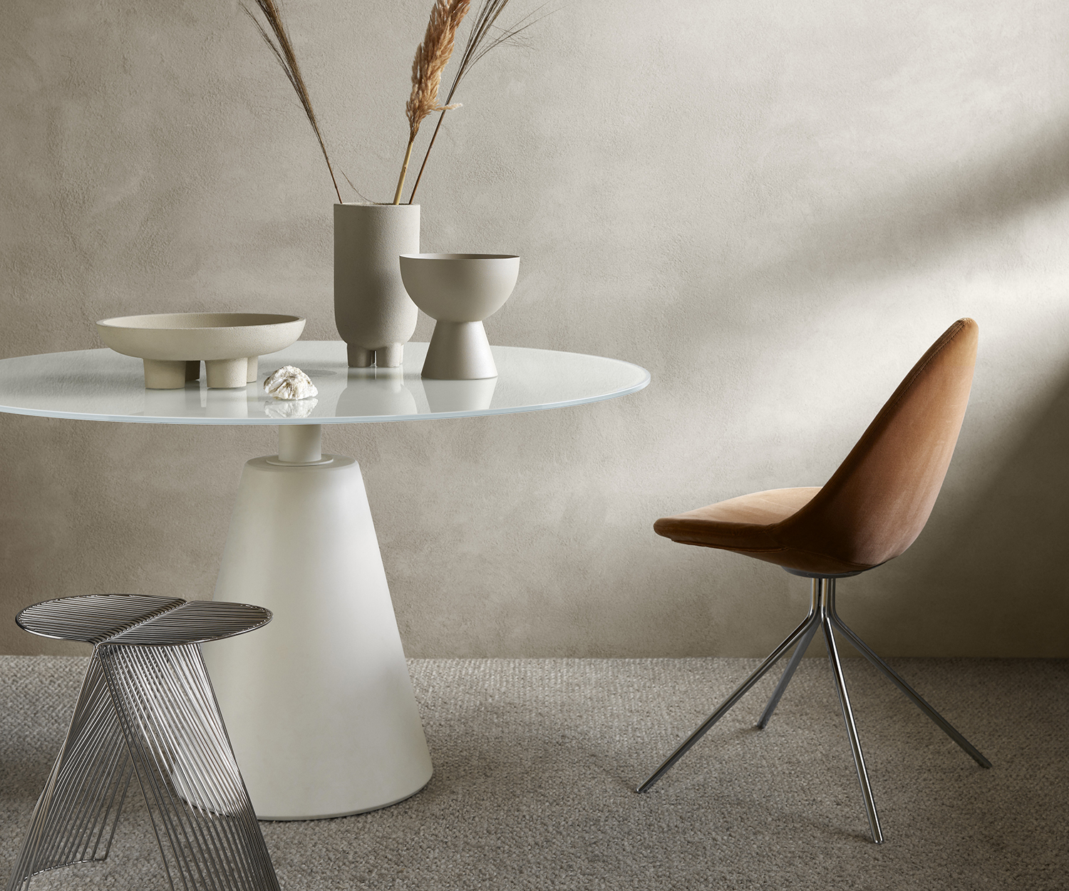 Madrid glass dining table