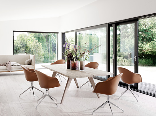 Vancouver modern extendable dining table